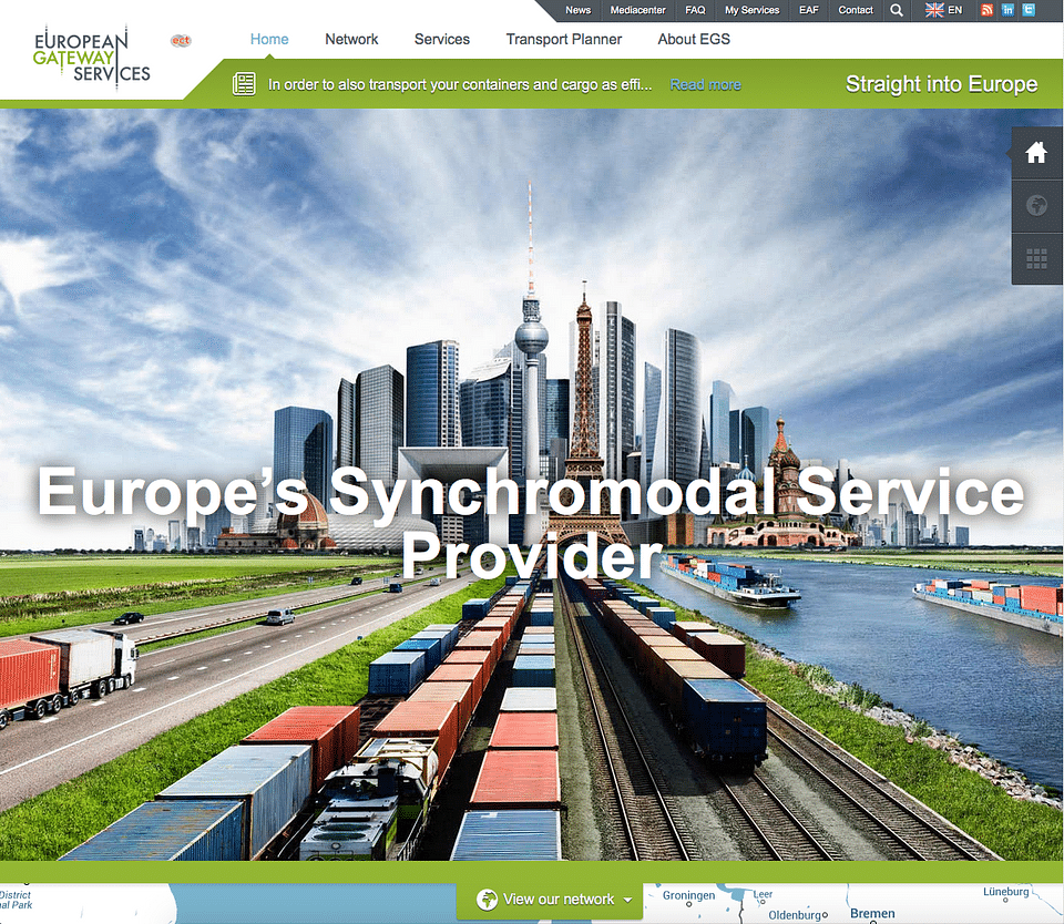 Logistic website with interactive Google Maps