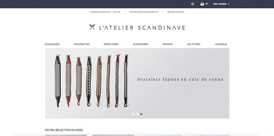 L'atelier Scandinave - refonte sur site internet