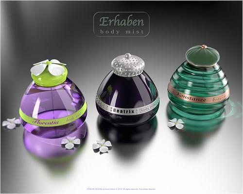 Design Produit / Packaging flaconnage / Parfumerie - 3D