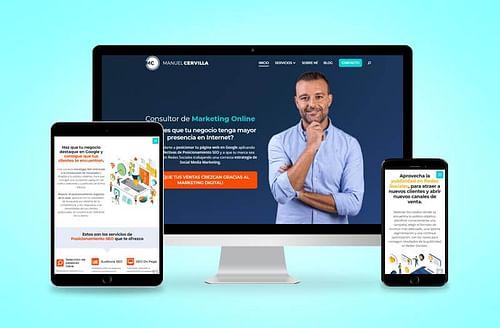 Página web Manuel Cervilla - Creación de Sitios Web