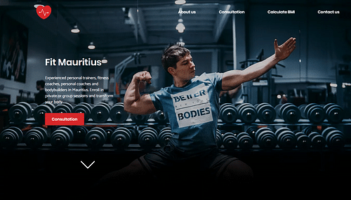 Personal Trainer Website - Website Creation
