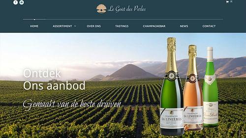 Webshop voor Champagne leverancier - Website Creatie