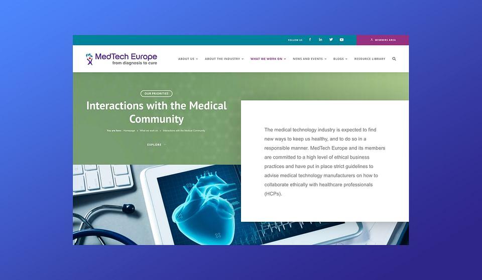 MedTech Europe / https://www.medtecheurope.org/