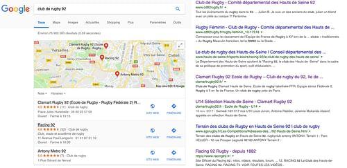 Stratégie digitale pour le Clamart Rugby 92 - Création de site internet