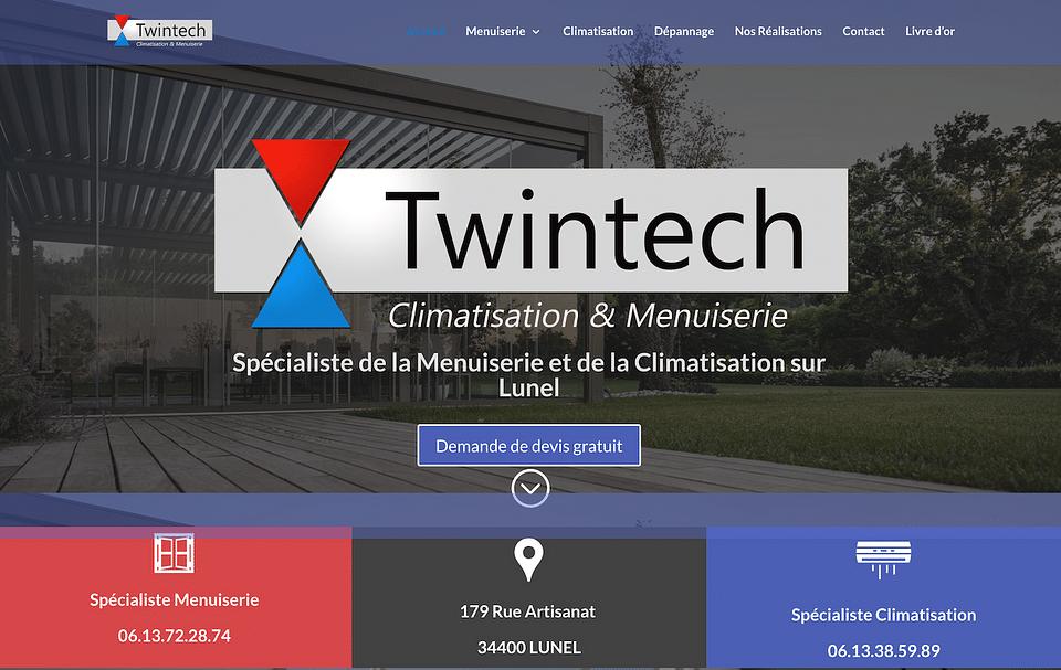 Création de site internet pour Twintech