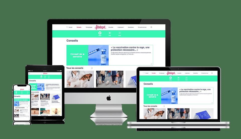 Création du site web de Filalapat