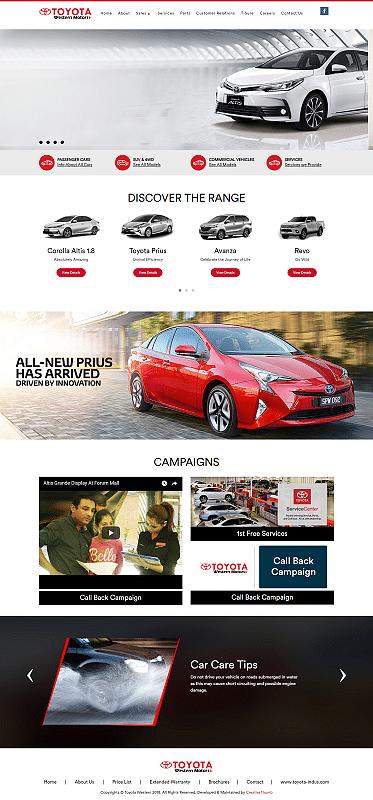 Toyota Western - Website Creation