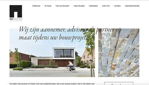 Website for a construction company - Website Creatie