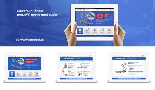 Carrefour Fitness - APP Nativa para Tablets - App móvil