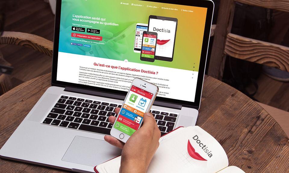 Site internet et application mobile Doctisia