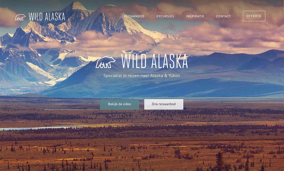Webdesign for travel agency