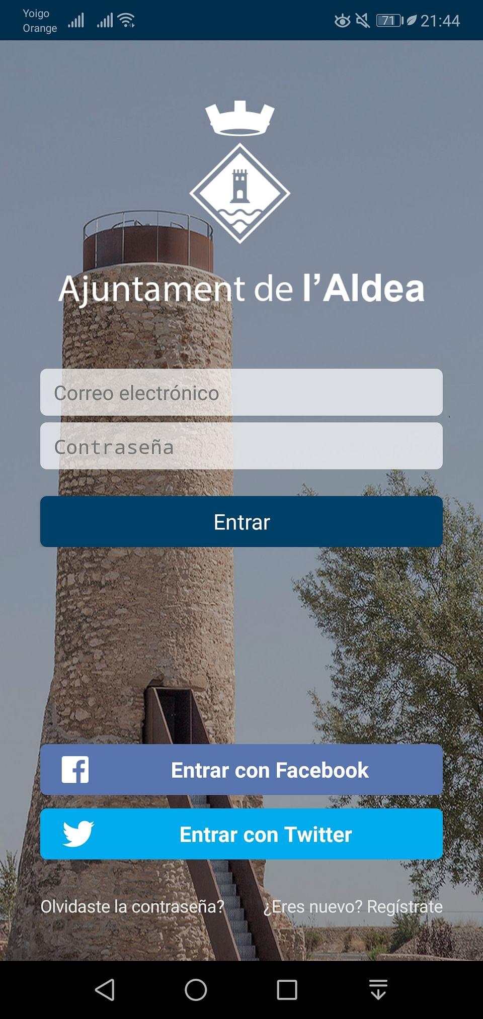Aplicación Móvil Ajuntament de l'Aldea
