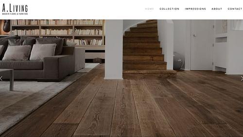 Website voor vloer fabrikant - Website Creatie