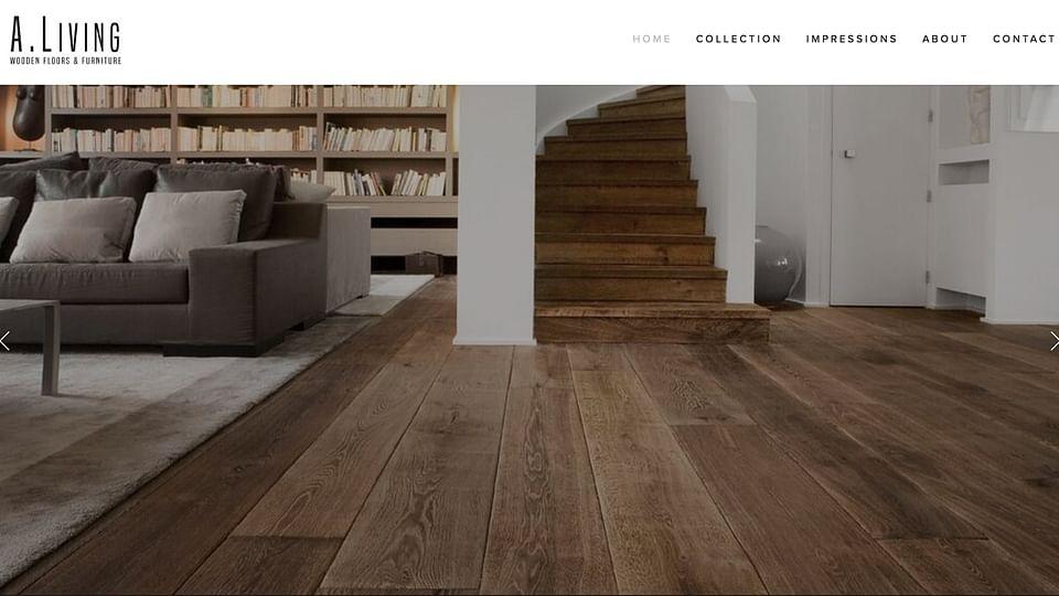 Website voor vloer fabrikant