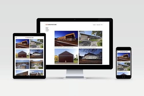 Website design pour Giet Architecture. - Création de site internet