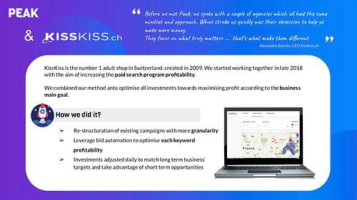 Case Study No2: KissKiss.ch - Publicité en ligne