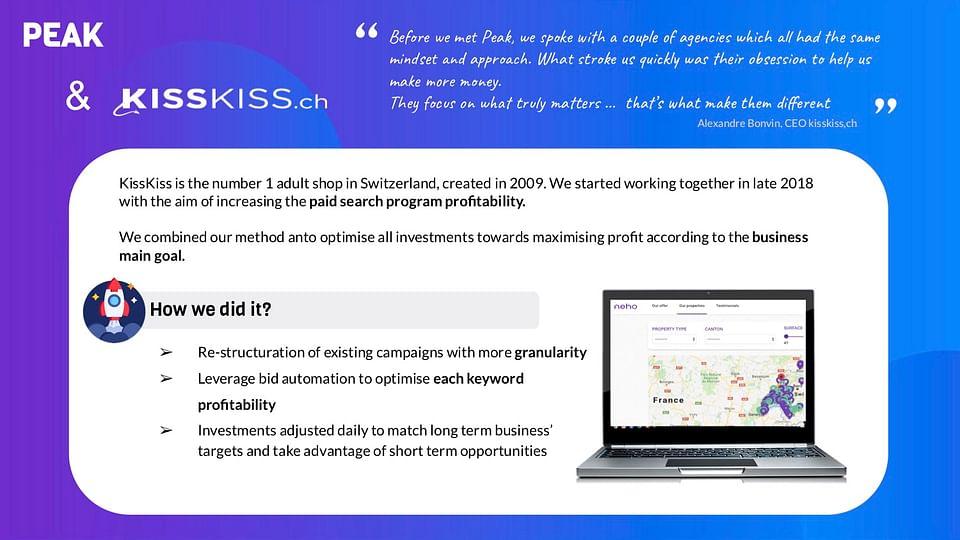 Case Study No2: KissKiss.ch