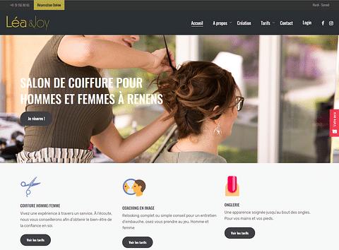 Création d'un site web avec réservation online