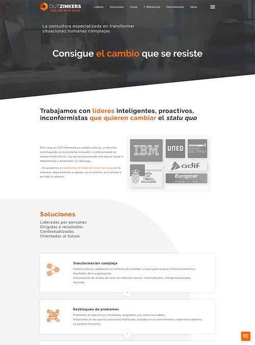 Desarrollo Web para la empresa Outzinkers - Creación de Sitios Web