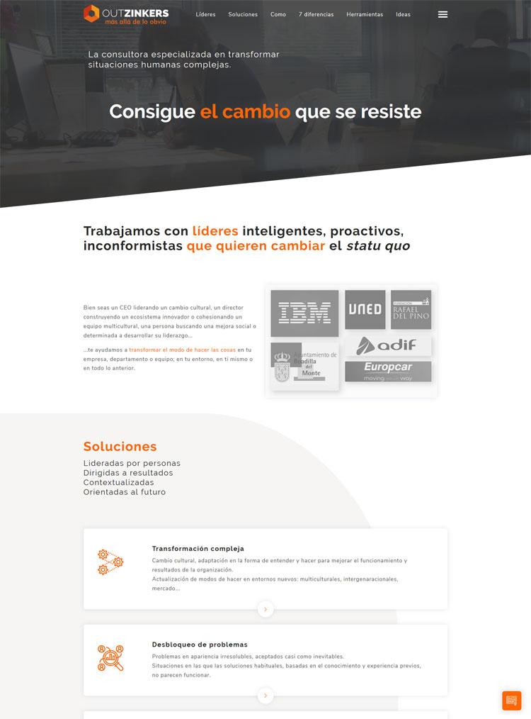 Desarrollo Web para la empresa Outzinkers