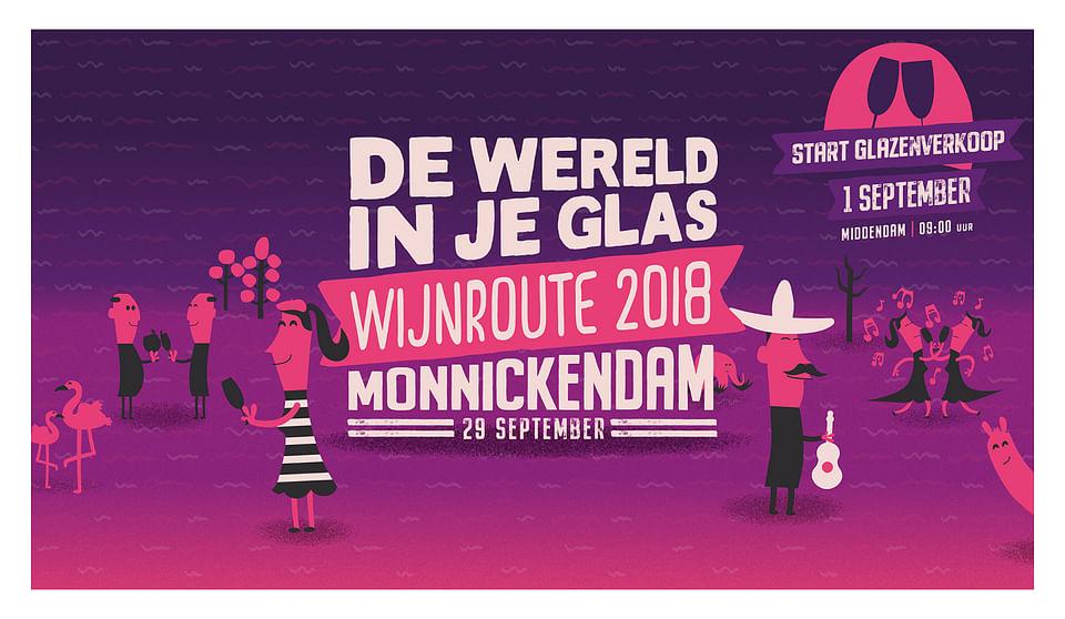 De Wijnroute Monnickendam - Event branding