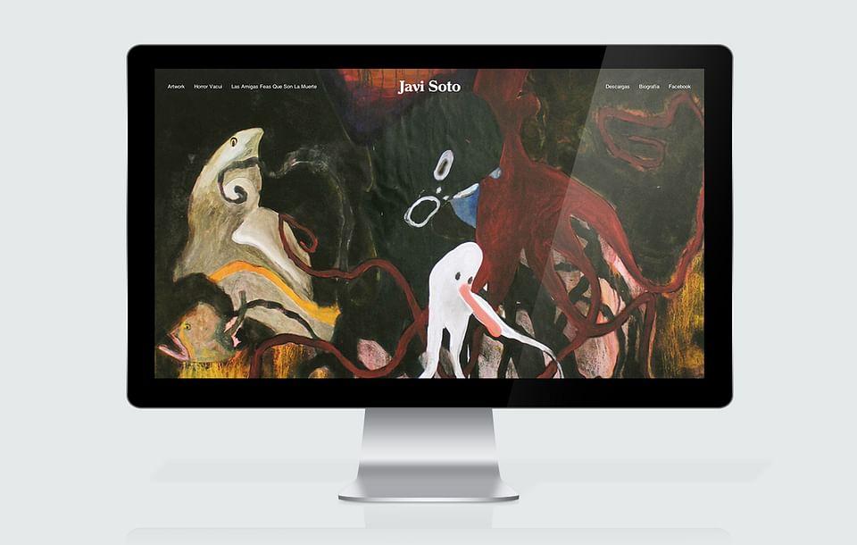 Diseño web para el artista Javier Soto García