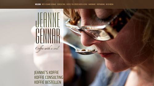 Jeanne Gennar, coffee with a soul - Website Creatie