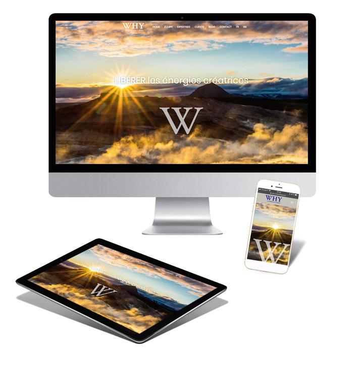 Création du logo et du site web why-consulting.com - Création de site internet