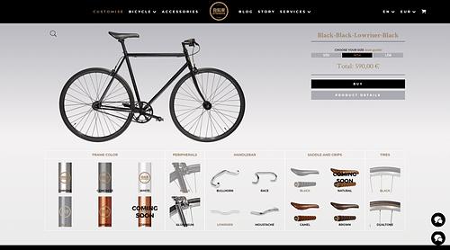 Création d'un site e-commerce avec configurateur - Stratégie digitale