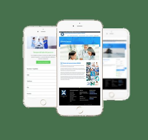 Web y estrategia de marketing centro salud