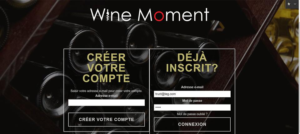 Création d'un site privé de vente de vin