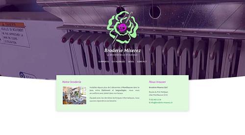 Broderie Miserez Sàrl - Création de site internet