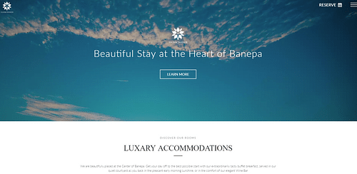 Website Design and SEO For A Hotel - Website Creation