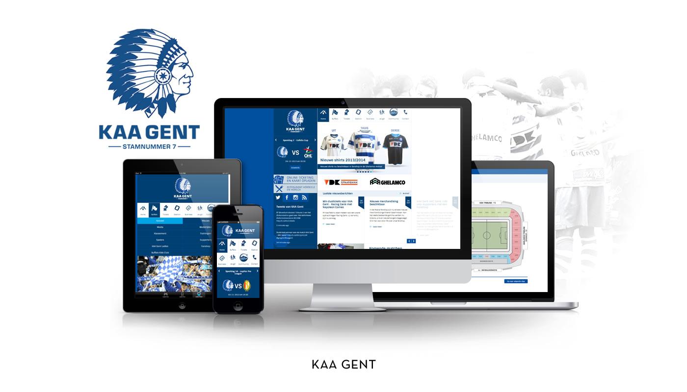 KAA Gent websites - Website Creatie