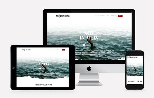 The Dark Wire Website - Branding & Positioning
