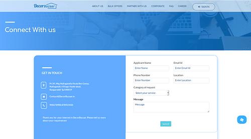 DecorBazar - Site Internet - Création de site internet