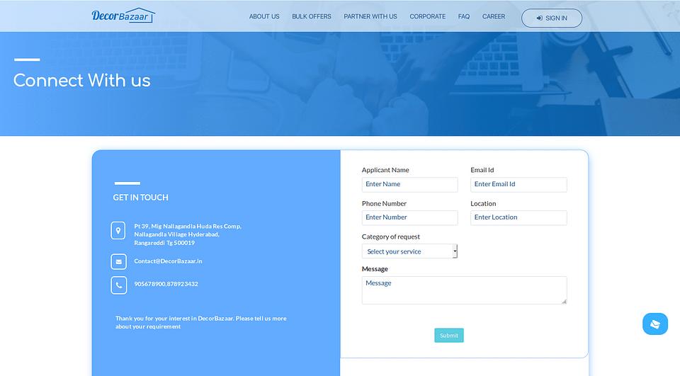 DecorBazar - Site Internet