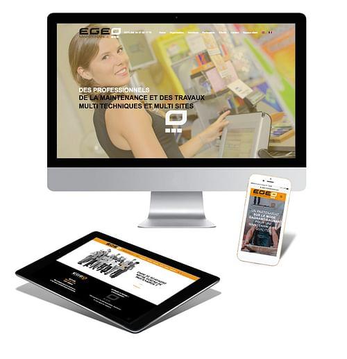 Création du logo et du site web EGEO MAINTENANCE - Création de site internet