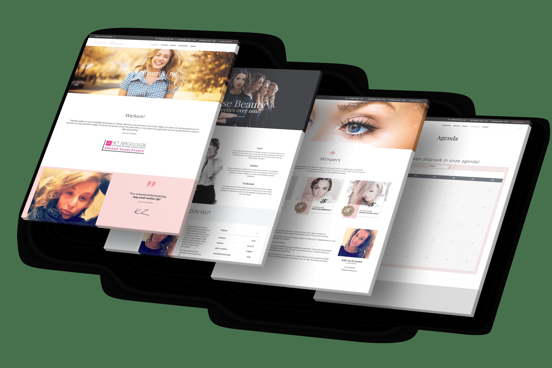 Nieuwe website schoonheidssalon