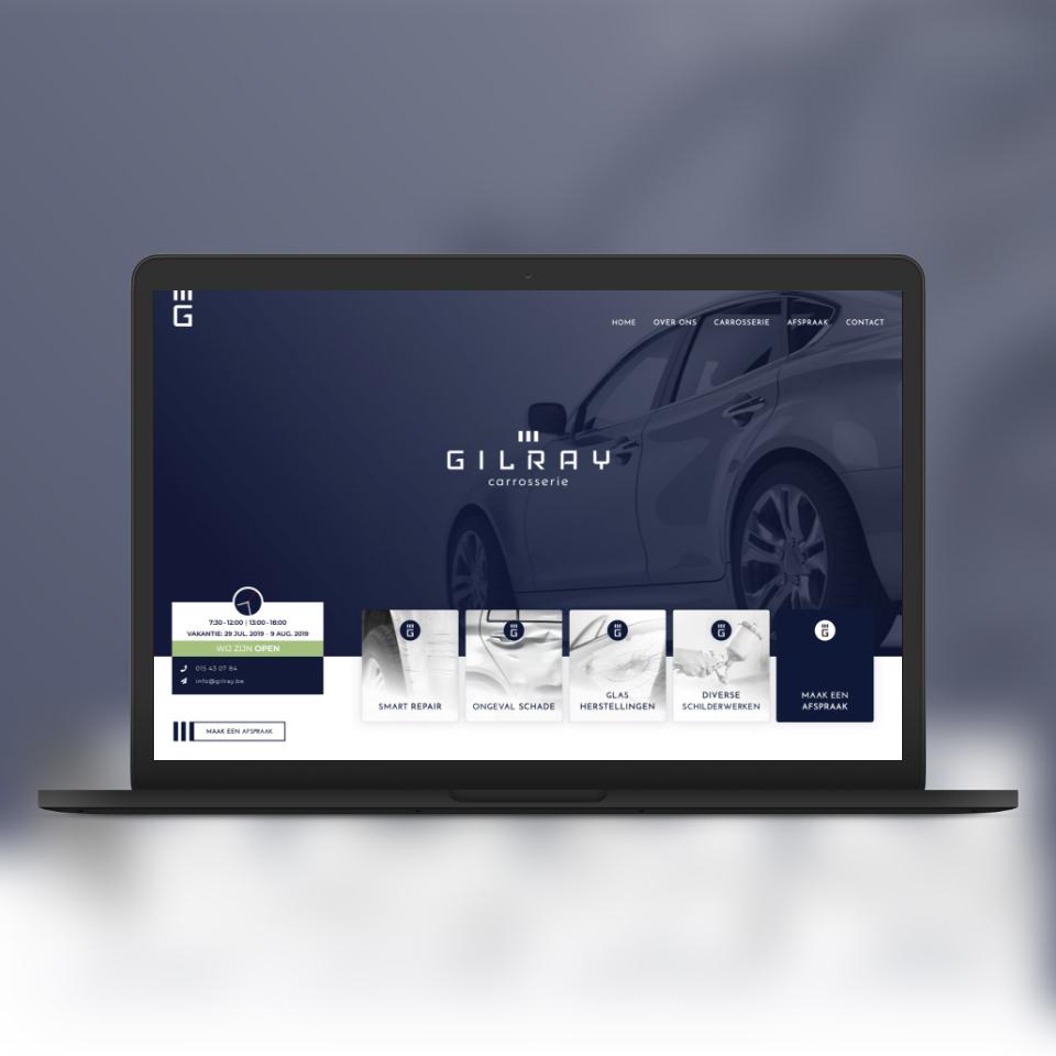 Gilray carrosserie - koetswerkherstellingen - Website Creatie