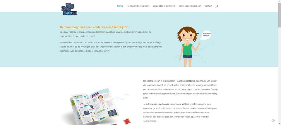 SEO webteksten en PR voor een kinder naaimagazine