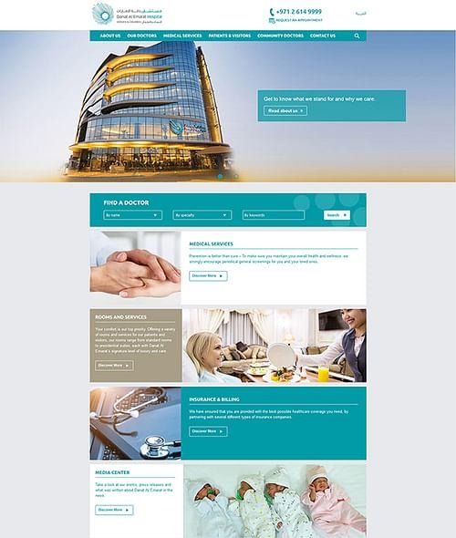 Danat AL Emarat Hospital - Website Creation