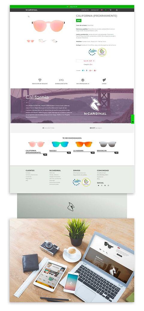 """Página web + e-commerce """"para cuando hace sol"""""""