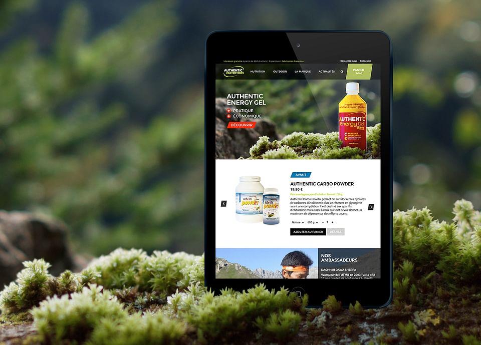 Site e-commerce Authentic Nutrition