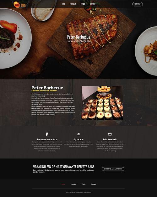 Peter Barbecue - Website Creatie