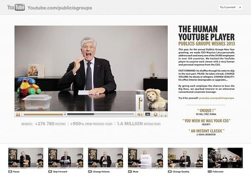 THE HUMAN YOUTUBE PLAYER [image] - Advertising