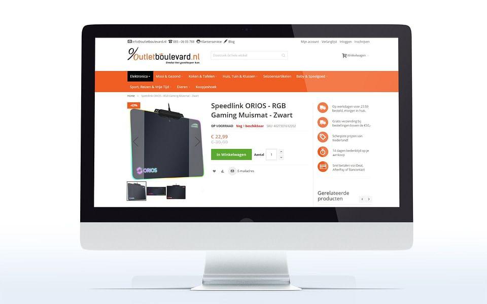 Outlet Boulevard Magento 2 e-commerce webshop