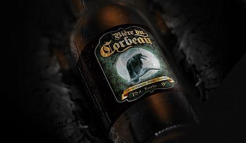 Bière du Corbeau - mystérieuse bière blonde - Design & graphisme