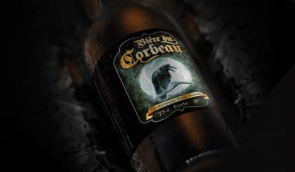 Bière du Corbeau - mystérieuse bière blonde