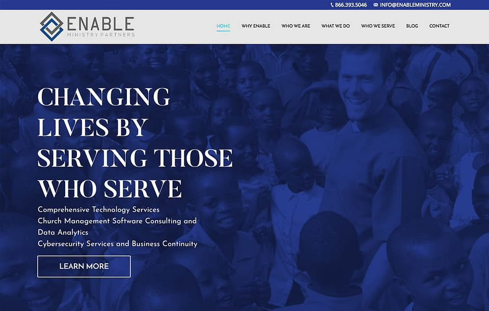 Enable Ministries Partners Website